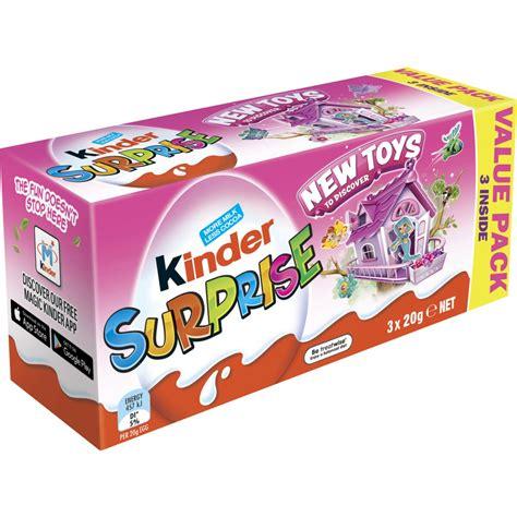 Kinder Surprise Chocolate Egg 3 Pack   Pink | BIG W