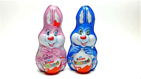 Kinder Surprise Easter Bunny Chocolate   YouTube