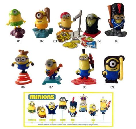KINDER SURPRISE MINIONS DESPICABLE ME FERRERO CAKE TOPPERS ...