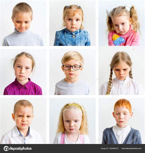 Kinderen emoties collage — Stockfoto  Lenanichizhenova ...