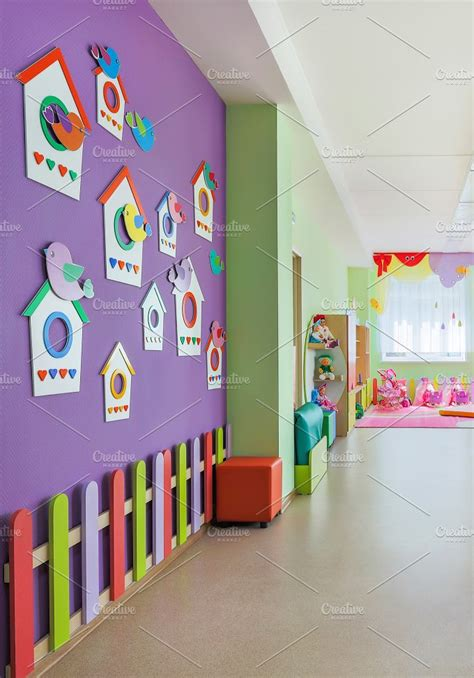 Kindergarten, Hall. ~ Education Photos ~ Creative Market