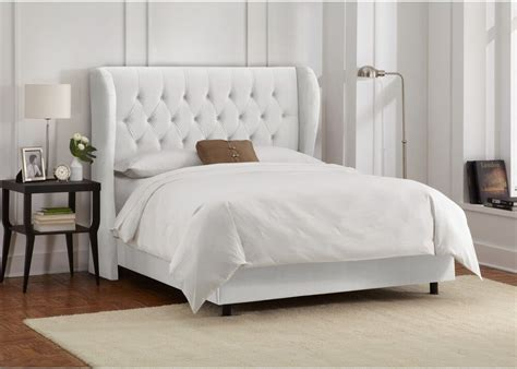King Size Bed Frame And Headboard Tufted Wingback In ...