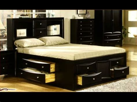 King Size Bed Frame With Drawers Ideas   YouTube
