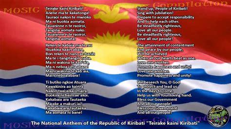 Kiribati National Anthem with music, vocal and lyrics ...