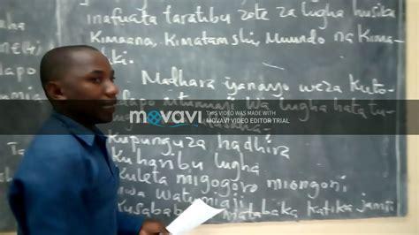 KISWAHILI KIDATO CHA PILI MASWALI NA MAJIBU   YouTube
