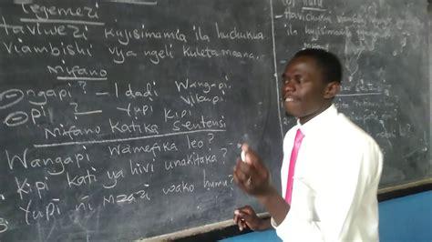 KISWAHILI LESSON: VIWAKILISHI VIULIZI.   YouTube