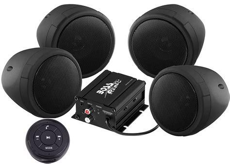 Kit 4 Bocinas Boss Para Moto Bluetooth Amplificador 1000w ...