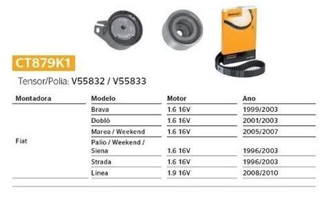 Kit Correia Dentada+polia+tensor Linea 1.9 16v 2009 ...