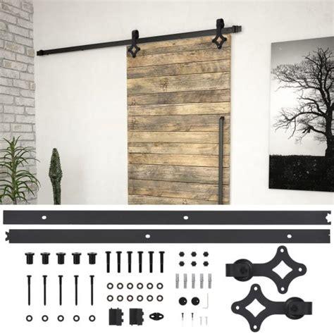 Kit de herrajes para puertas correderas acero negro 200 cm ...
