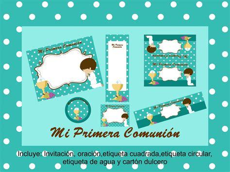 Kit imprimible editable de niño PRIMERA COMUNIÓN ...