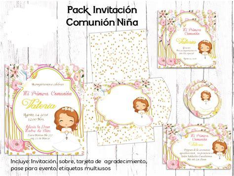 Kit Imprimible Primera Comunión Niña Candy Mesa Postres ...