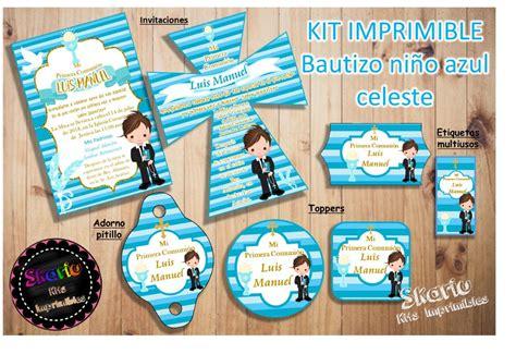 Kit Imprimible Primera Comunión Niño Celes Personalizado ...