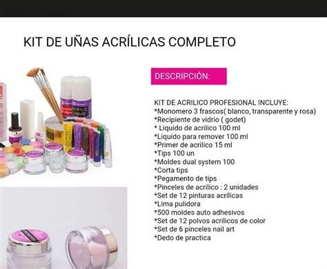 Kit Uñas Acrilicas Completo   $ 35.500 en Mercado Libre