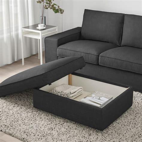 KIVIK Reposapiés con almacenaje   Hillared antracita   IKEA