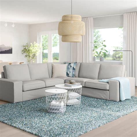 KIVIK Sofá 4 plazas esquina, Orrsta gris claro   IKEA