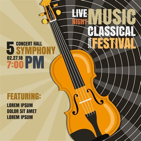 Klassieke muziekfestival Poster vectorillustratie ...