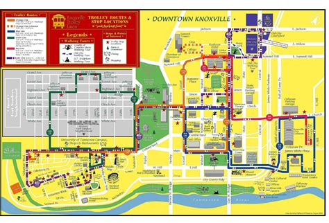 Knoxville TN Tourist Map   Knoxville Tennessee • mappery