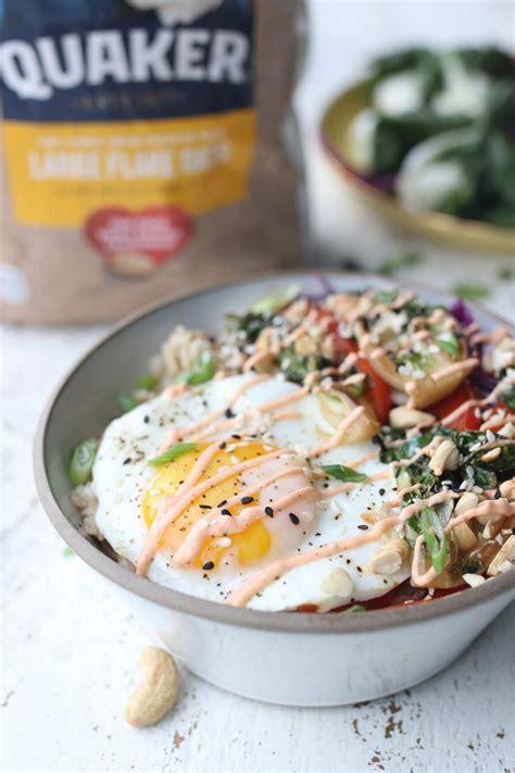 Korean Savoury Oatmeal with Runny Egg | Easy Pantry Staple ...