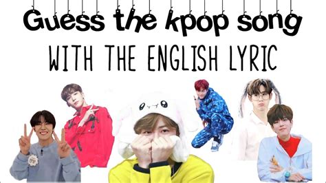 Kpop Game | Guess the kpop song with the English lyric ...