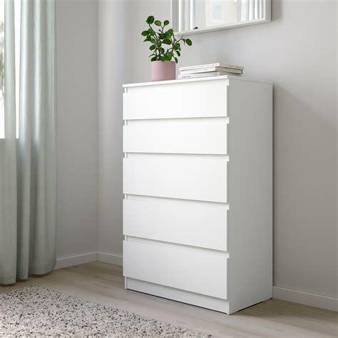 KULLEN Chest of 5 drawers, white, 70x112 cm   IKEA
