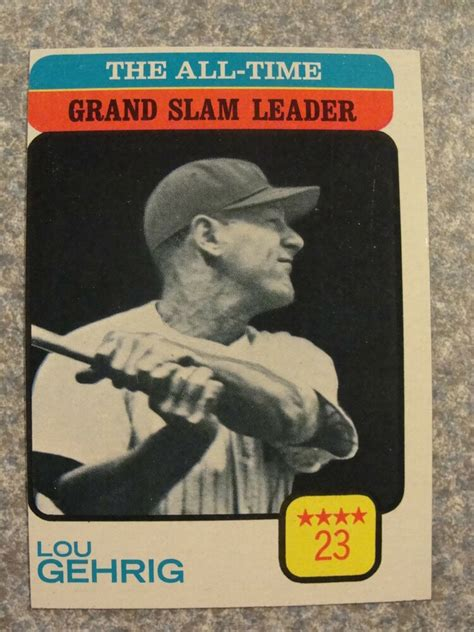 L#321 1973 Topps #472 Lou Gehrig, New York Yankees, All ...