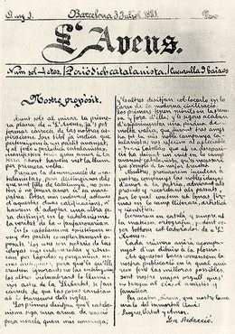 L Avenç  1881 1893    lletrA   Literatura catalana a internet