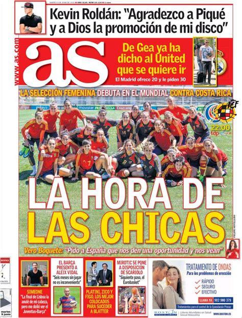 La Absoluta femenina asalta las portadas de los diarios ...