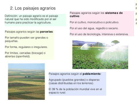 La agricultura, la ganadería y la pesca