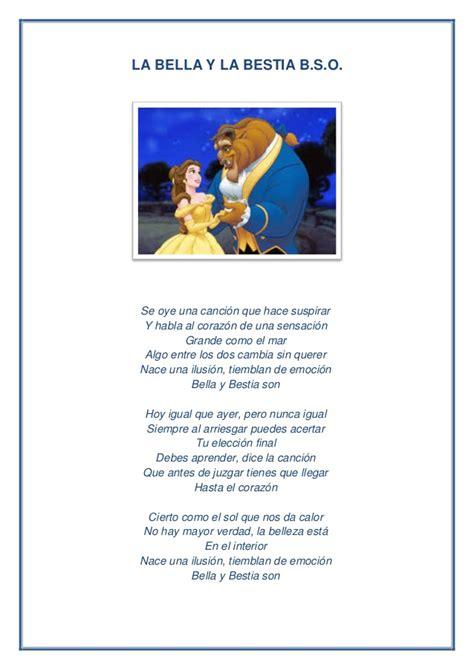 La bella y la bestia letra pdf