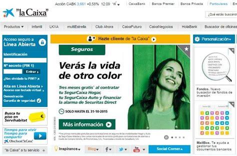 La Caixa Online: una línea abierta... con un diseño ...