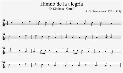 LA CLASE DE MÚSICA DE MAVI: Partitura Himno de la Alegría ...