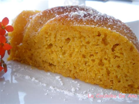La Cocinika De Ana: Pastel de zanahoria  Reto Color Naranja