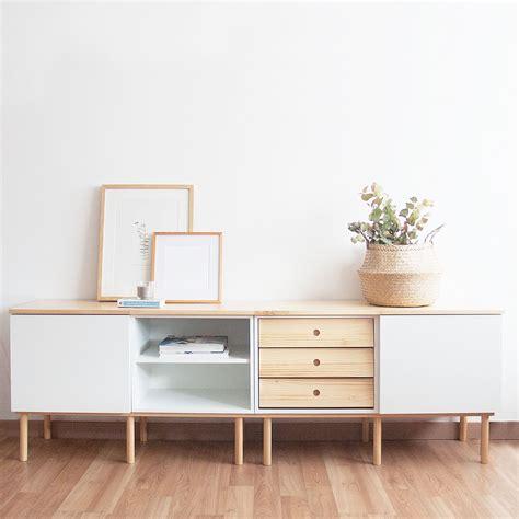 La combinación perfecta para tu mueble tv: madera y blanco ...