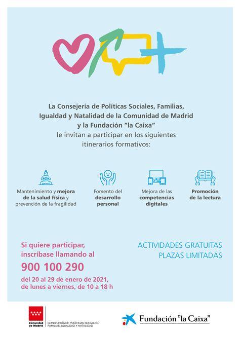 La Consejería de Políticas Sociales, Familias, Igualdad y ...