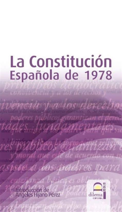 LA CONSTITUCIÓN ESPAÑOLA DE 1978 EBOOK | MARIA DE LOS ...