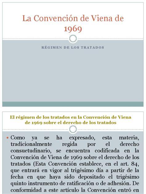La Convención de Viena de 1969 | Tratado | Convenio ...