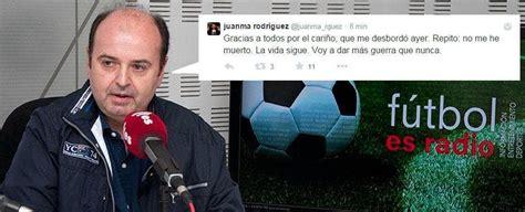 La COPE despide al histórico periodista de Deportes Juanma ...