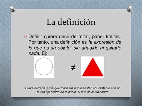 La definición