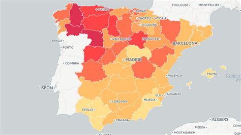 La edad media de los españoles, provincia a provincia