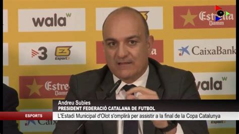 La Federació Catalana de Futbol presenta la final de la ...