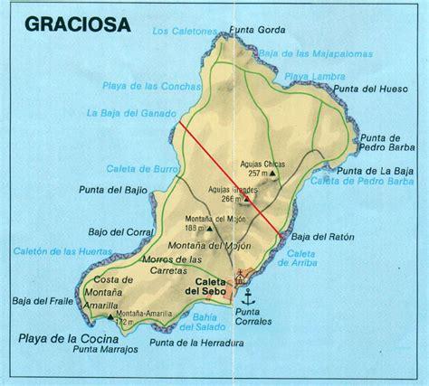 La Graciosa Map, Canary Islands | Islas canarias, Islas ...