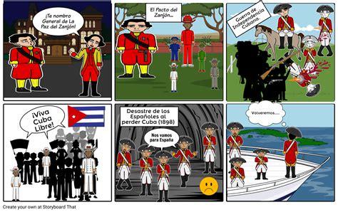 La Guerra de Independencia de CUBA Storyboard by sayu113