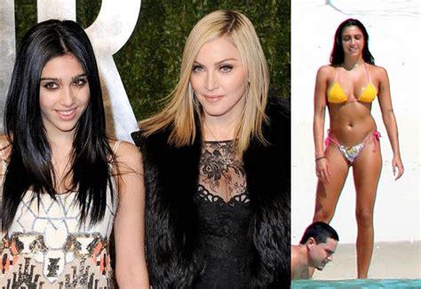 La hija de Madonna mostró sus grandes lolas al natural en ...