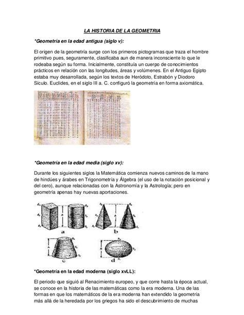 La historia de la geometria  1