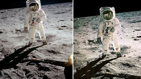 La icónica foto de la llegada a la Luna que la NASA admite ...