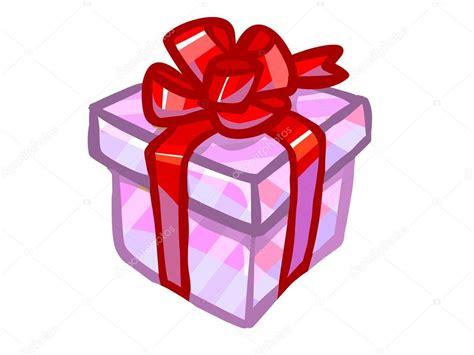 La ilustración de una caja de regalo rosa .: fotografía de ...