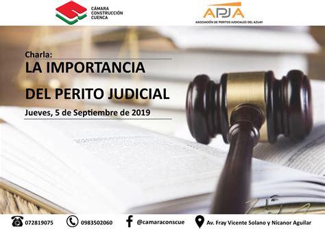 LA IMPORTANCIA DEL PERITO JUDICIAL   Cámara Construcción ...