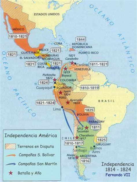 LA_INDEPENDENCIA_COLONIAS_AMERICANAS