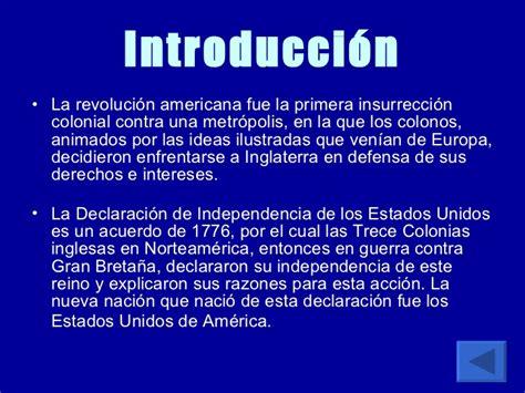 La independencia de los EUA