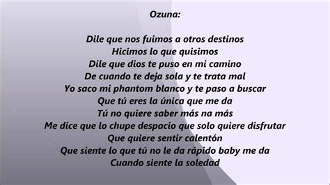La Infidelidad Ozuna Ft Jenay LETRA   YouTube